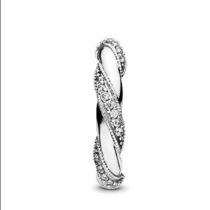 Pandora Jewelry - New Pandora Dreams of Love CZ Twist Ring